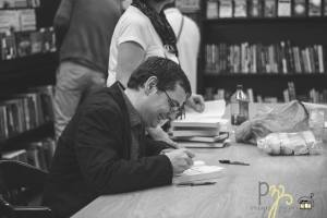 Signing at the B&N. Photo courtesy of Monique Nethercott.