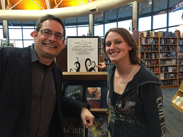 With Brittany, the fiction section leader at Joseph-Beth. She's great!